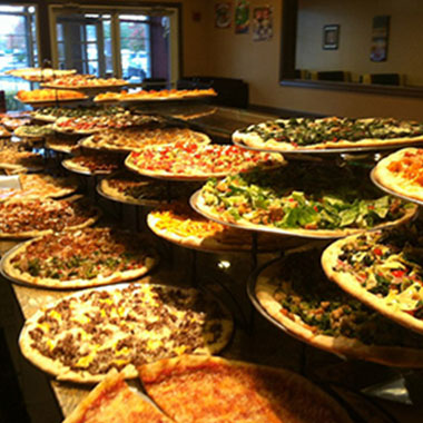 Baco's Gourmet Pizza - Pizza selection